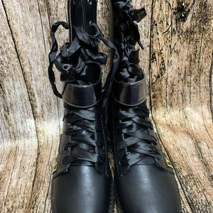 Penny Loves Kenny Shoes - Penny Loves Kenny Nomad Combat Boots with Accents